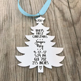 BABY'S FIRST CHRISTMAS TREE SHAPED ORNAMENT