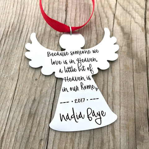 A LITTLE BIT OF HEAVEN ANGEL ORNAMENT