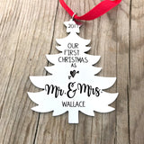 OUR FIRST CHRISTMAS AS MR. & MRS. TREE ORNAMENT