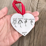 CHILDREN'S DRAWING HEART ORNAMENT