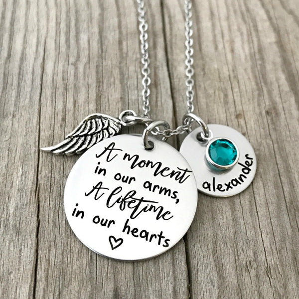 a moment in our arms memorial necklace