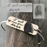 Handwriting & Fingerprint Plate Bangle