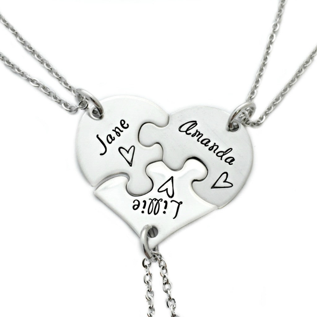 set friends products forever always mae puzzle necklace oaklee piece sisters