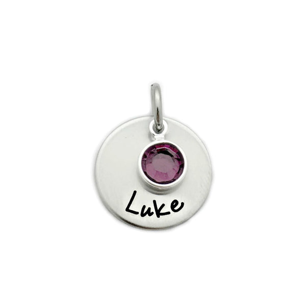 "ADD ON - 5/8"" STAINLESS STEEL DISC WITH BIRTHSTONE"