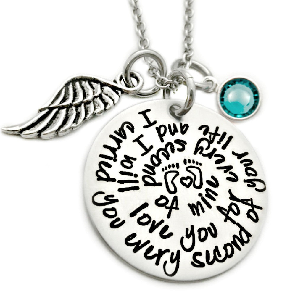 I CARRIED YOU EVERY SECOND OF YOUR LIFE NECKLACE