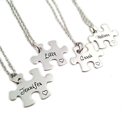 PERSONALIZED NAME BRIDESMAID NECKLACE