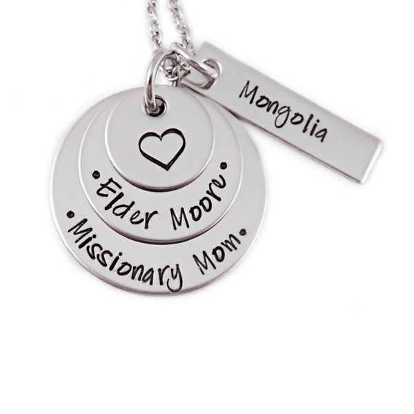 LAYERED MISSIONARY MOM NECKLACE WITH TAG