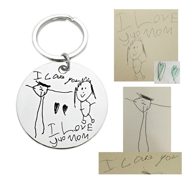 HANDWRITING LARGE ROUND KEYCHAIN
