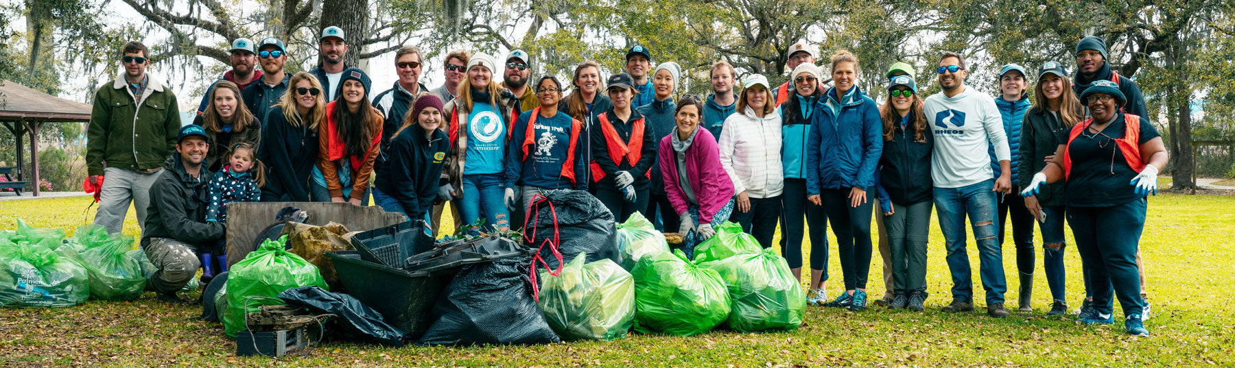 Rheos and Charleston Waterkeeper clean up event