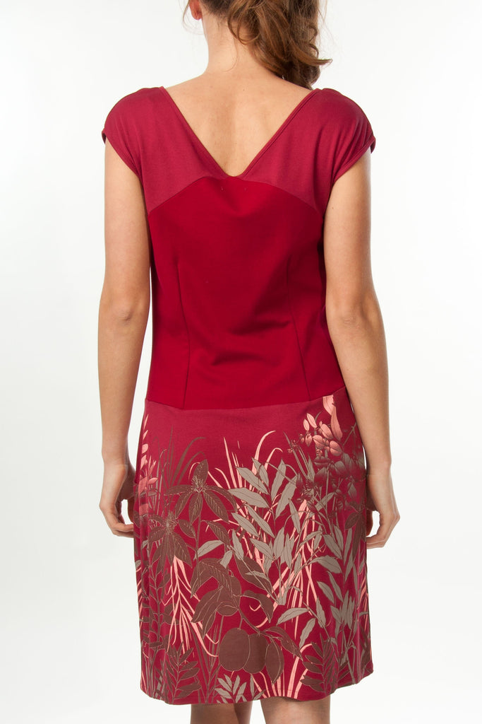 Robe Fleurie Rouge