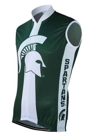 Michigan State Men's Sleeveless Cycling Jersey - Collegiate Cycling Gear