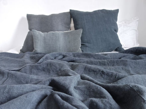 Llucalcari <br> Vintage Linen & Hemp Throw