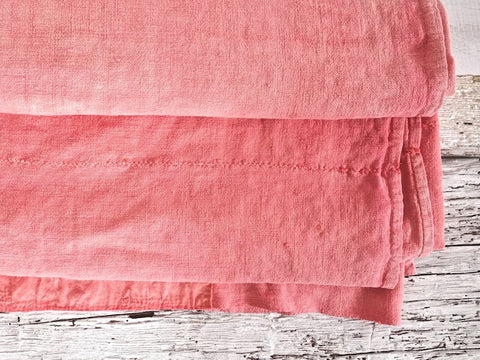 Custom Vintage Linen <br> Bed Cover or Throw