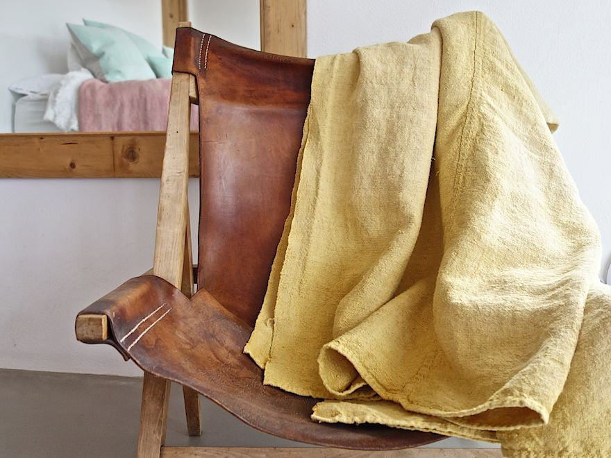 espanyolet | cloth & clay | handcrafted in Mallorca | one-of-a-kind vintage linens | hand-formed ceramics