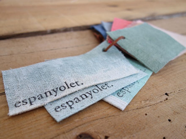 espanyolet | linen | handmade | one-of-a-kind handwoven antique Mallorquín linen | hand painted in Mallorca, Spain | vintage | texture | color