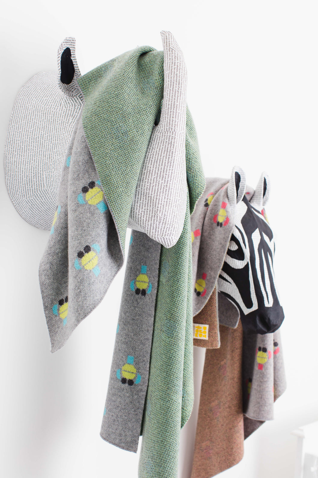 Kids Monkey Cashmere Blanket