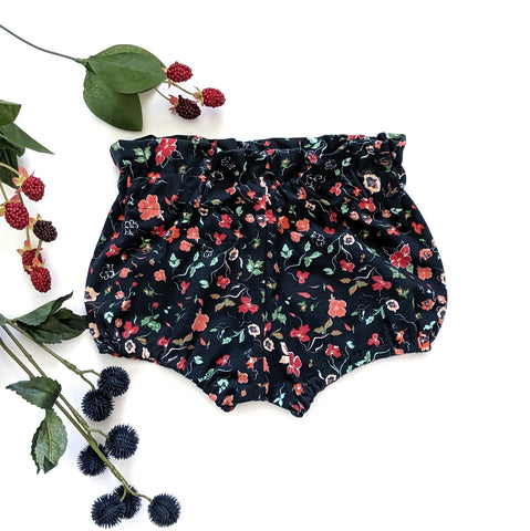 Navy Woodlands Knit Bloomers