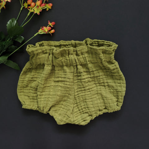 Olive Double Gauze Bloomers