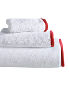 Wrap Me Up Bath Sheet - MONTAGUE & CAPULET-White / Fire Red / Plain - 16