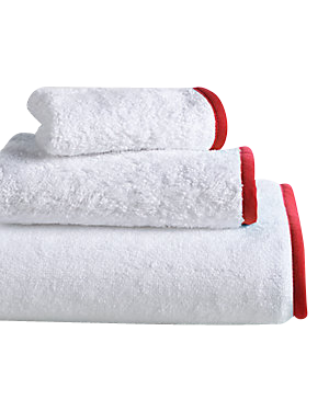 Wrap Me Up Bath Towel - MONTAGUE & CAPULET-White / Fire Red / Plain - 17