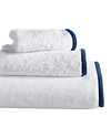 Wrap Me Up Bath Towel - MONTAGUE & CAPULET-White / Sapphire Blue / Plain - 23