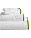 Wrap Me Up Bath Towel - MONTAGUE & CAPULET-White / Key Lime / Plain - 21