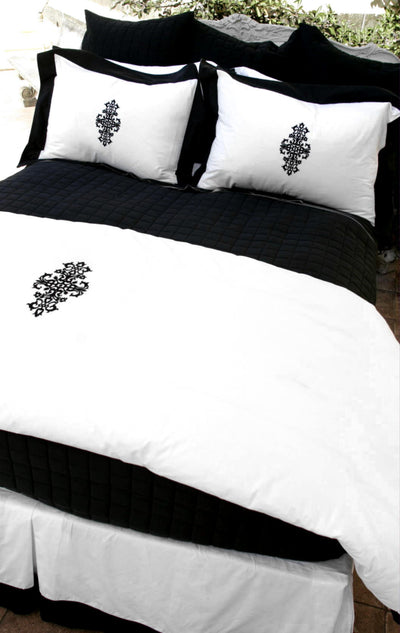 Liaison Collection Duvet - MONTAGUE & CAPULET-Twin/Twin XL / Onyx / Belladonna - 11