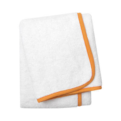 Wrap Me Up Bath Sheet - MONTAGUE & CAPULET-White / Mandarin / Plain - 8