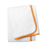 Wrap Me Up Beach Lounge Towel - MONTAGUE & CAPULET-White / Mandarin / Plain - 8