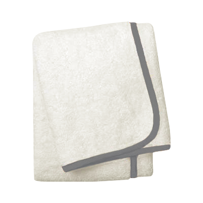 Wrap Me Up Bath Sheet - MONTAGUE & CAPULET-Ivory / Charcoal / Plain - 50