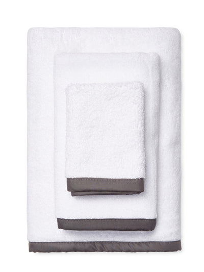 Wrap Me Up Bath Towel - MONTAGUE & CAPULET-White / Charcoal / Plain - 22