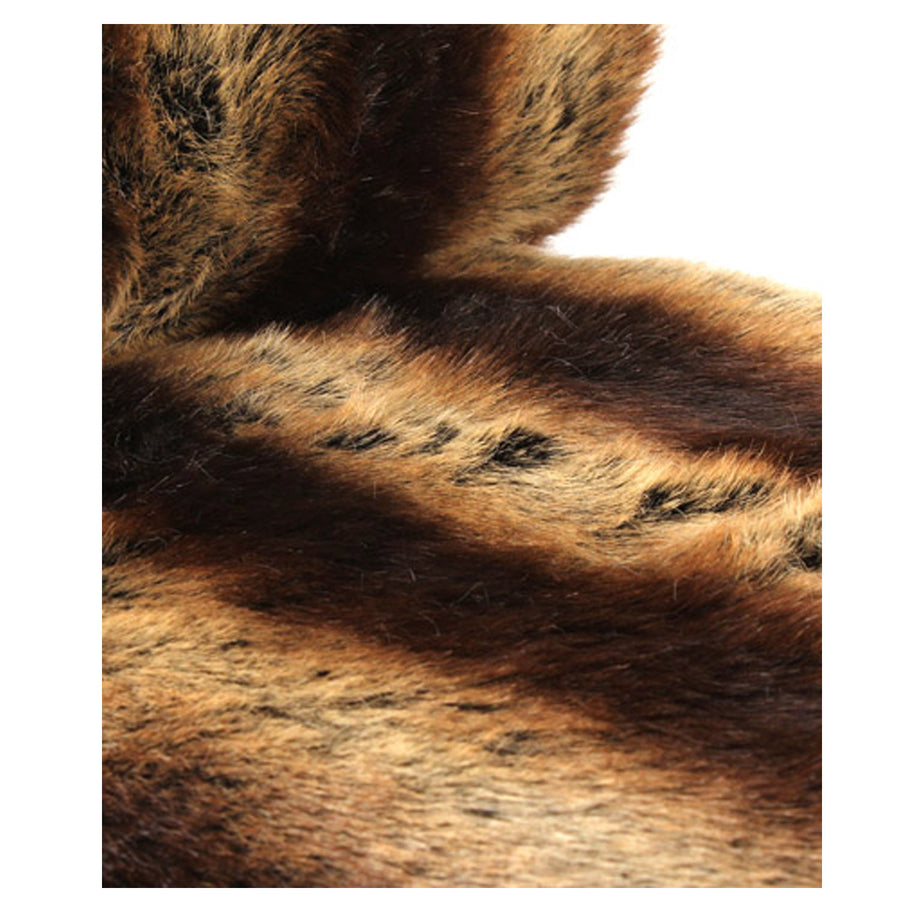 Fur Throw 'Chinchilla Chestnut' - MONTAGUE & CAPULET  - 1