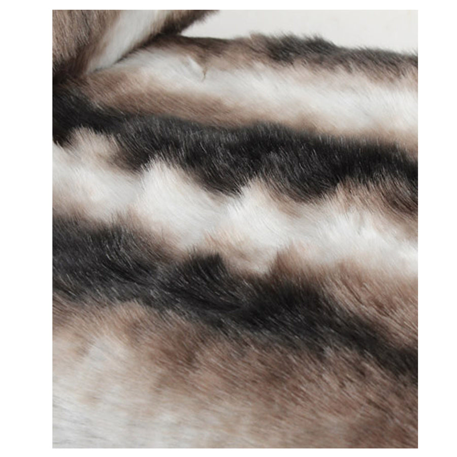 Fur Throw 'Chinchilla Smokey Grey' - MONTAGUE & CAPULET- - 1