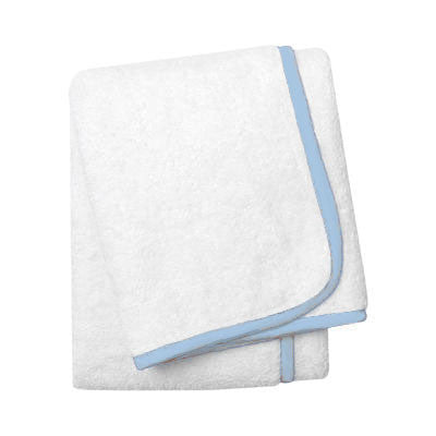 Wrap Me Up Bath Towel - MONTAGUE & CAPULET-White / Cloud Blue / Plain - 30