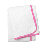 Wrap Me Up Beach Lounge Towel - MONTAGUE & CAPULET-White / Cotton Candy / Plain - 1