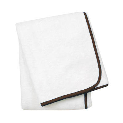 Wrap Me Up Bath Sheet - MONTAGUE & CAPULET-White / Espresso / Plain - 53