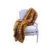 Fur Throw 'Eyelash Leopard Caramel' - MONTAGUE & CAPULET- - 1