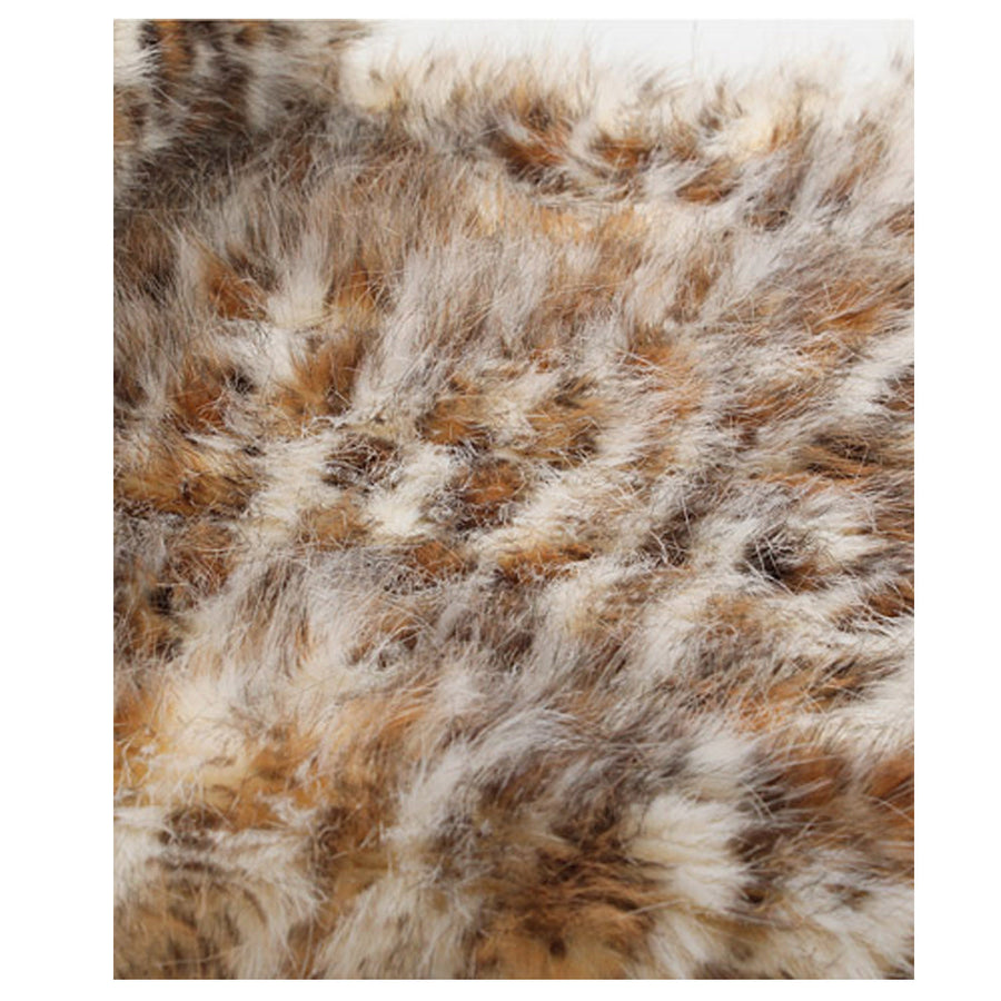Fur Throw 'Eyelash Leopard Pearl' - MONTAGUE & CAPULET- - 1