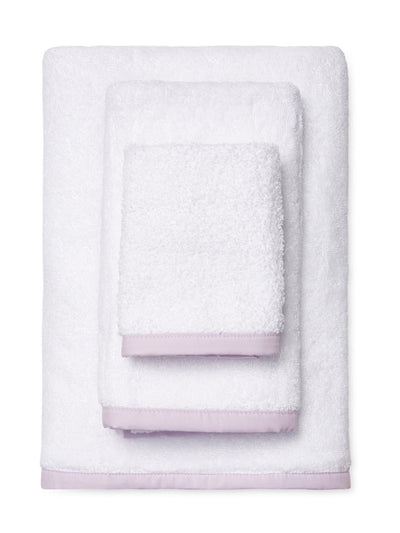 Wrap Me Up Bath Towel - MONTAGUE & CAPULET-White / Violet / Plain - 24