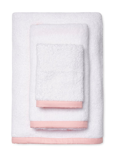 Wrap Me Up Bath Sheet - MONTAGUE & CAPULET-White / Princess Pink / Plain - 23