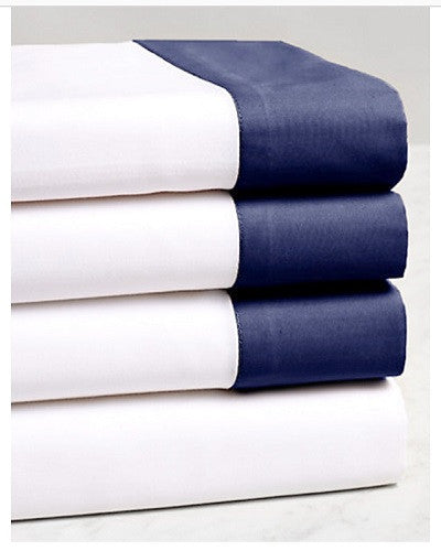 Liaison Collection Flat Sheet - MONTAGUE & CAPULET-Twin / Navy - 2