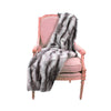 Fur Throw 'Luxe Mink Silver' - MONTAGUE & CAPULET  - 1