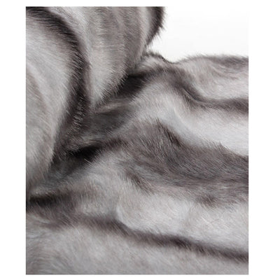 Fur Throw 'Luxe Mink Silver' - MONTAGUE & CAPULET  - 2