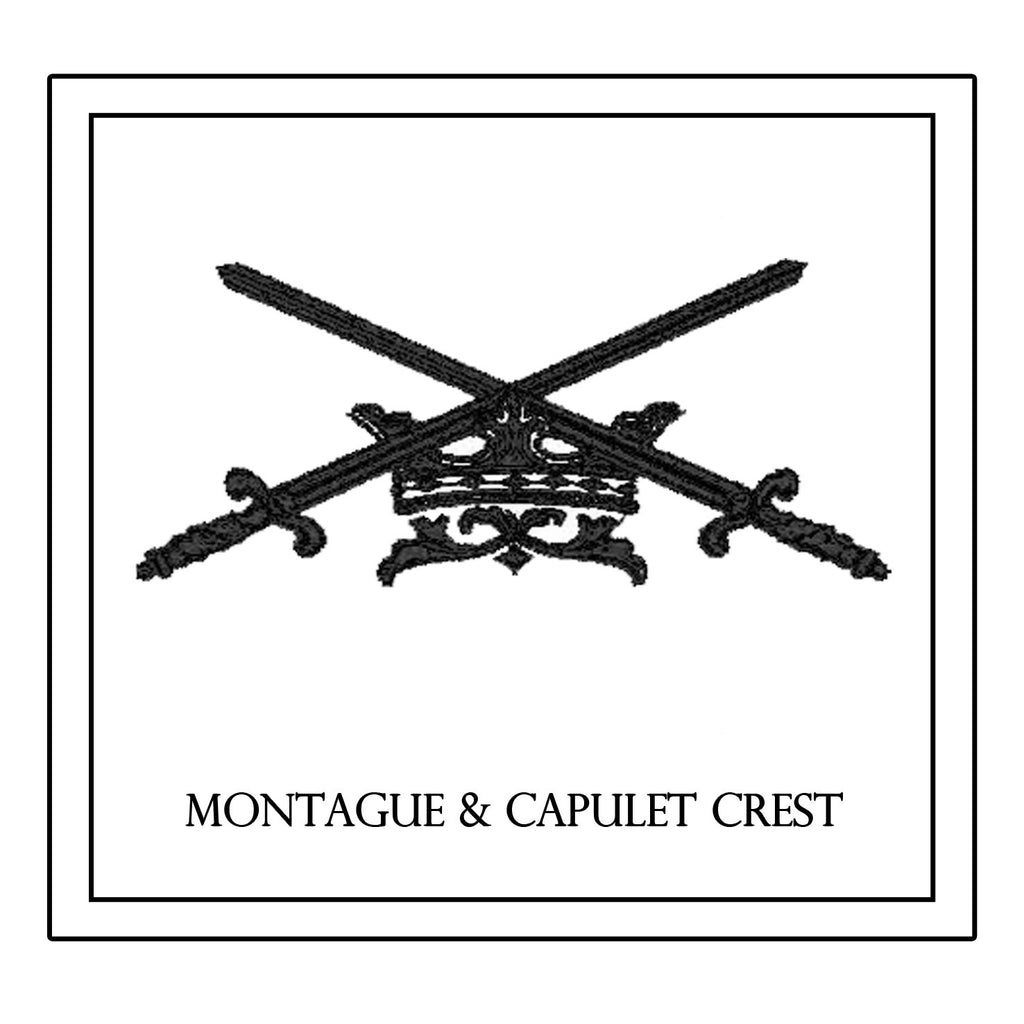 Montague & Capulet Crest Decorative Pillow * CUSTOMIZABLE *