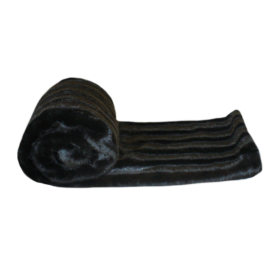 Fur Throw 'Black Mink' - MONTAGUE & CAPULET- - 1