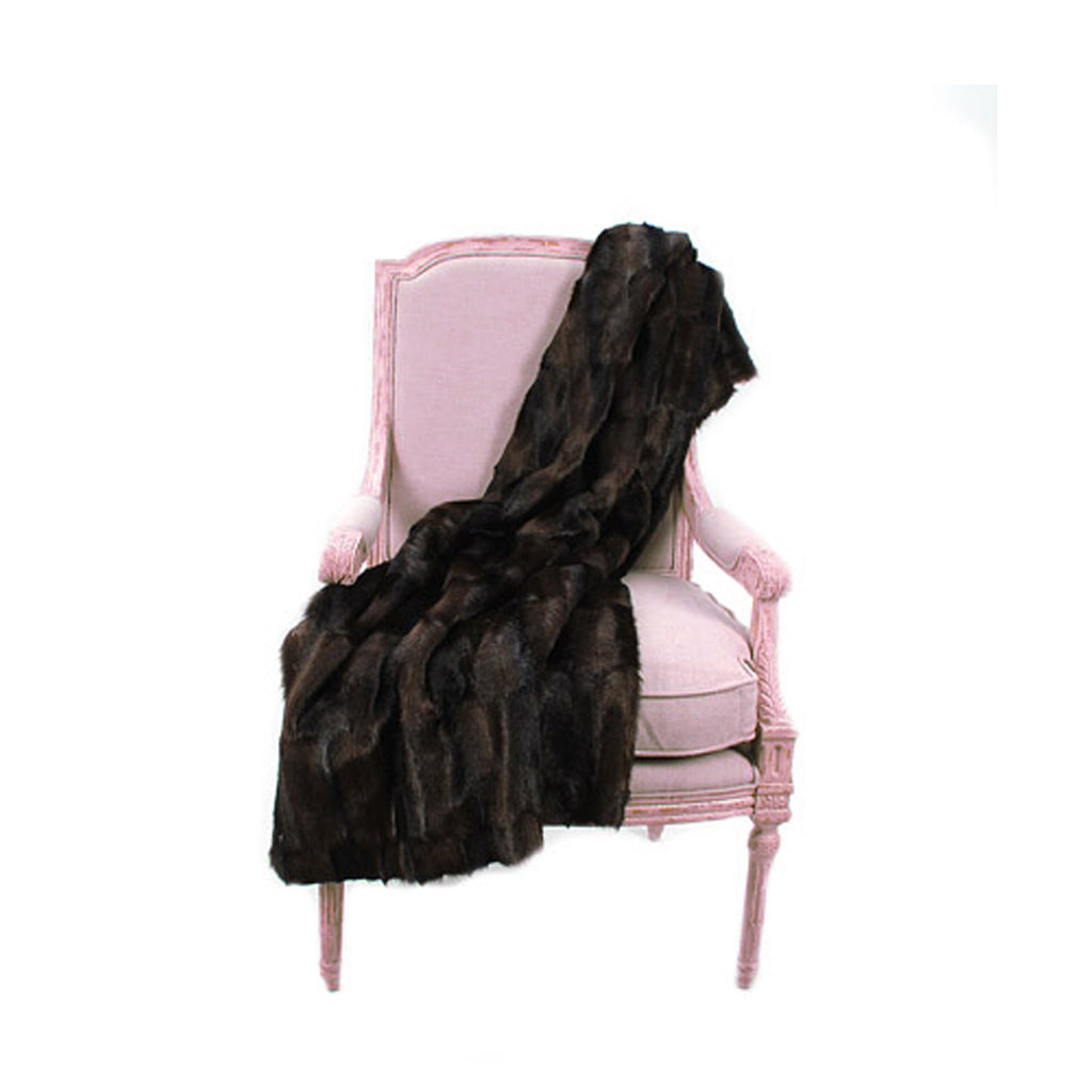 Fur Throw 'Mink Brown' - MONTAGUE & CAPULET- - 1