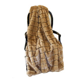 Fur Throw 'Mink Patchwork Mocha' - MONTAGUE & CAPULET- - 1