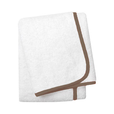 Wrap Me Up Bath Sheet - MONTAGUE & CAPULET-White / Mocha / Plain - 11