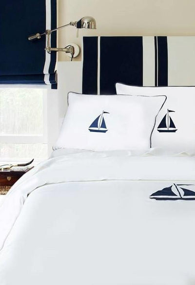 Yacht Collection Duvet - MONTAGUE & CAPULET-Twin/TN XL / Navy / Sailboat - 2