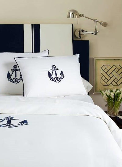 Yacht Collection Duvet - MONTAGUE & CAPULET-Twin/TN XL / Navy / Anchor - 9
